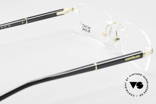 Montblanc MB337 Rimless Eyeglasses Gold-Plated, true luxury eyeglasses, rather a design for gentlemen, Made for Men
