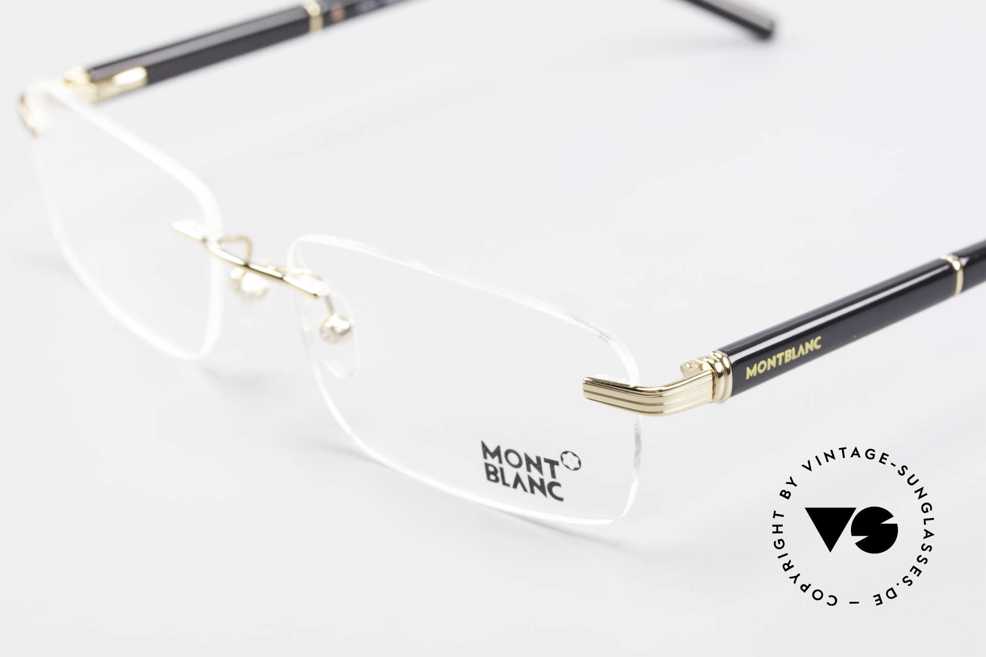 Montblanc MB337 Rimless Eyeglasses Gold-Plated, Size: medium, Made for Men