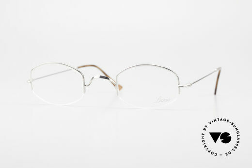 Lunor Classic Semi Rimless Vintage Frame Details
