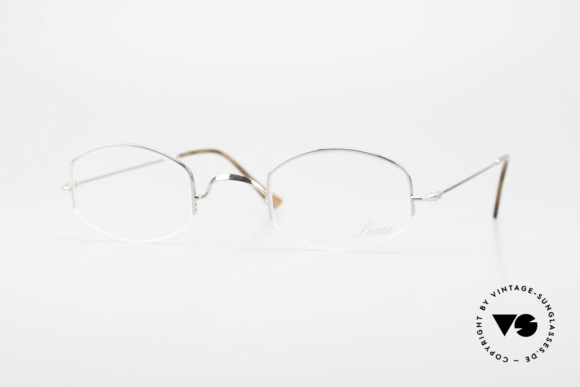 "Lunor Classic Semi Rimless Vintage Frame, LUNOR: shortcut for French ""Lunette d'Or"" (gold glasses), Made for Men and Women"