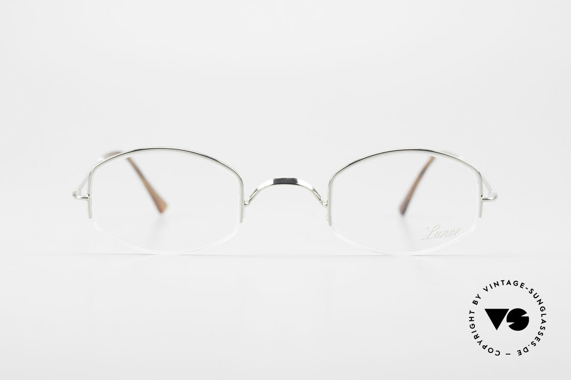 Lunor Classic Semi Rimless Vintage Frame, traditional German brand; quality handmade in Germany, Made for Men and Women