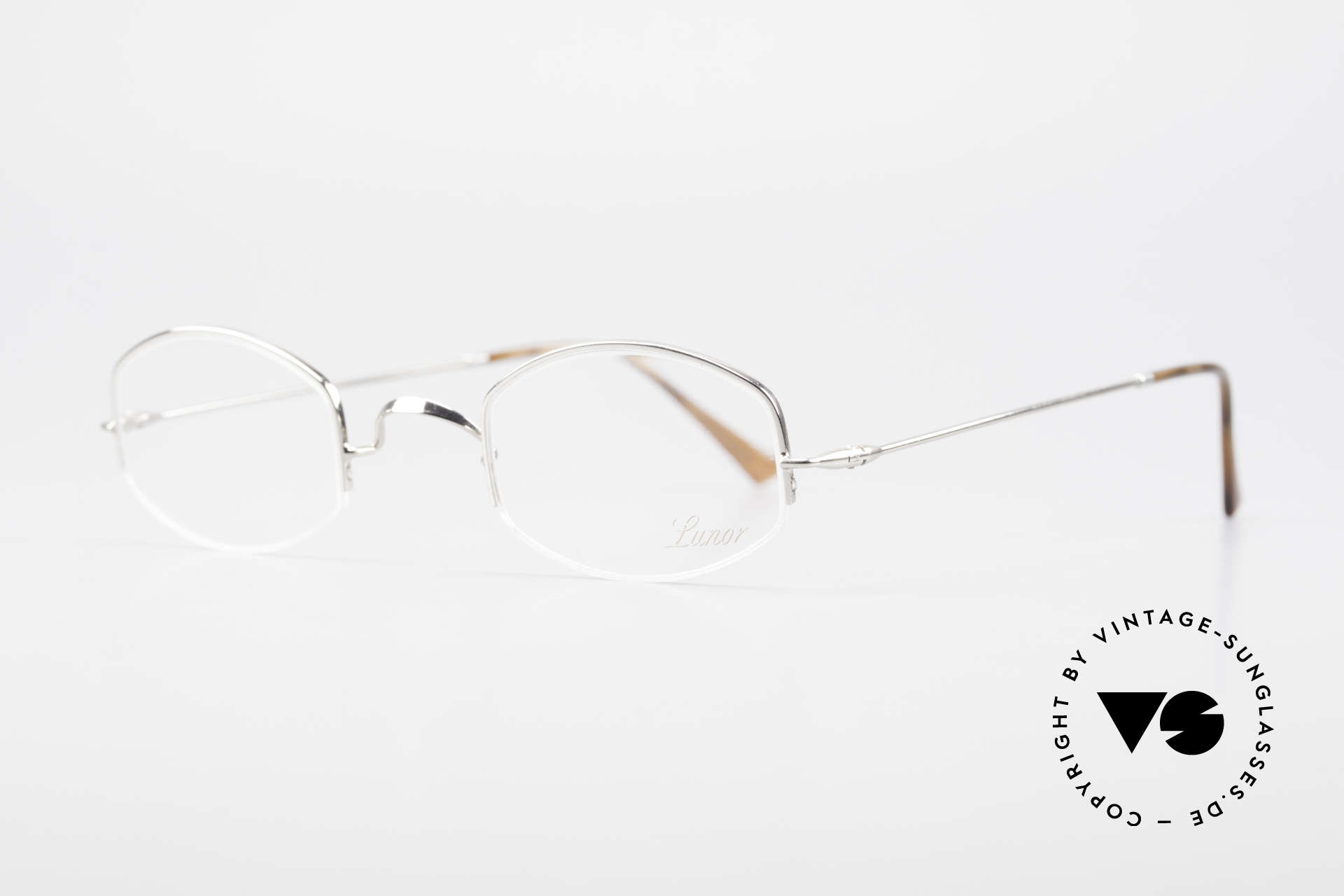 "Lunor Classic Semi Rimless Vintage Frame, well-known for the ""W-bridge"" & the plain frame designs, Made for Men and Women"