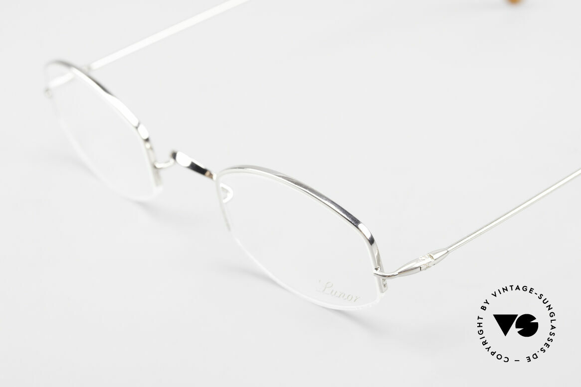 Lunor Classic Semi Rimless Vintage Frame, unworn RARITY (for all lovers of quality) from app. 1999, Made for Men and Women