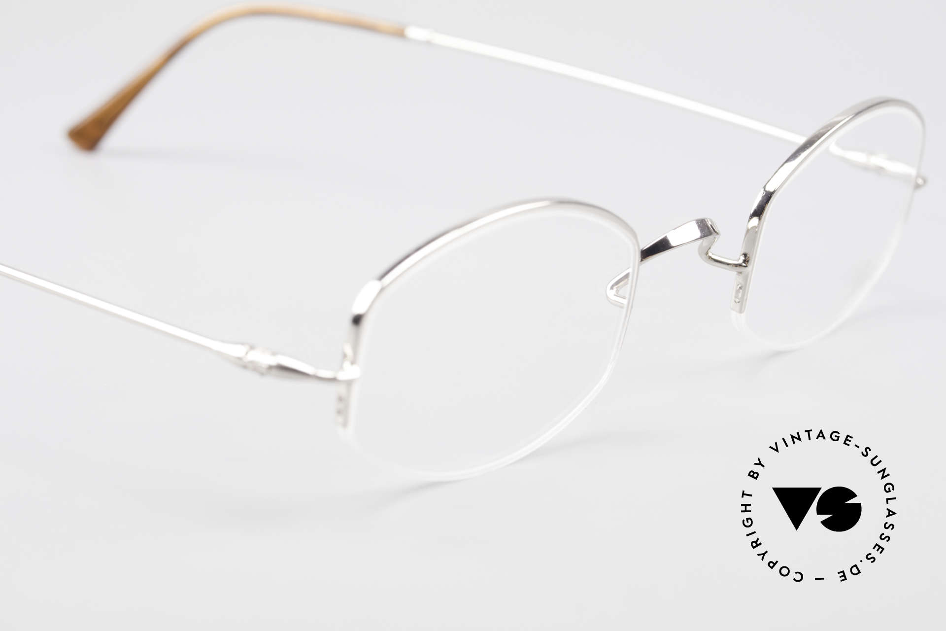 Lunor Classic Semi Rimless Vintage Frame, NO RETRO EYEGLASSES; but a luxury vintage ORIGINAL, Made for Men and Women