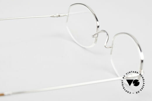 Lunor Classic Semi Rimless Vintage Frame, 115mm frame width = rather a very SMALL Lunor model!, Made for Men and Women