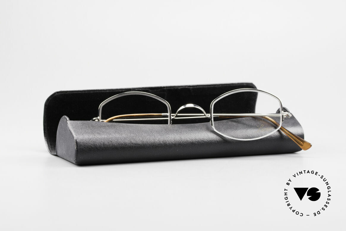 Lunor Classic Semi Rimless Vintage Frame, Size: extra small, Made for Men and Women