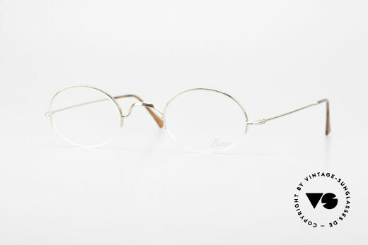 Lunor Classic Oval Semi Rimless Vintage Frame Details