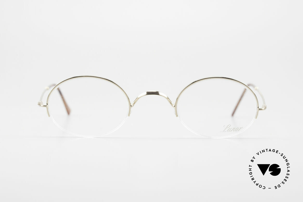 Lunor Classic Oval Semi Rimless Vintage Frame