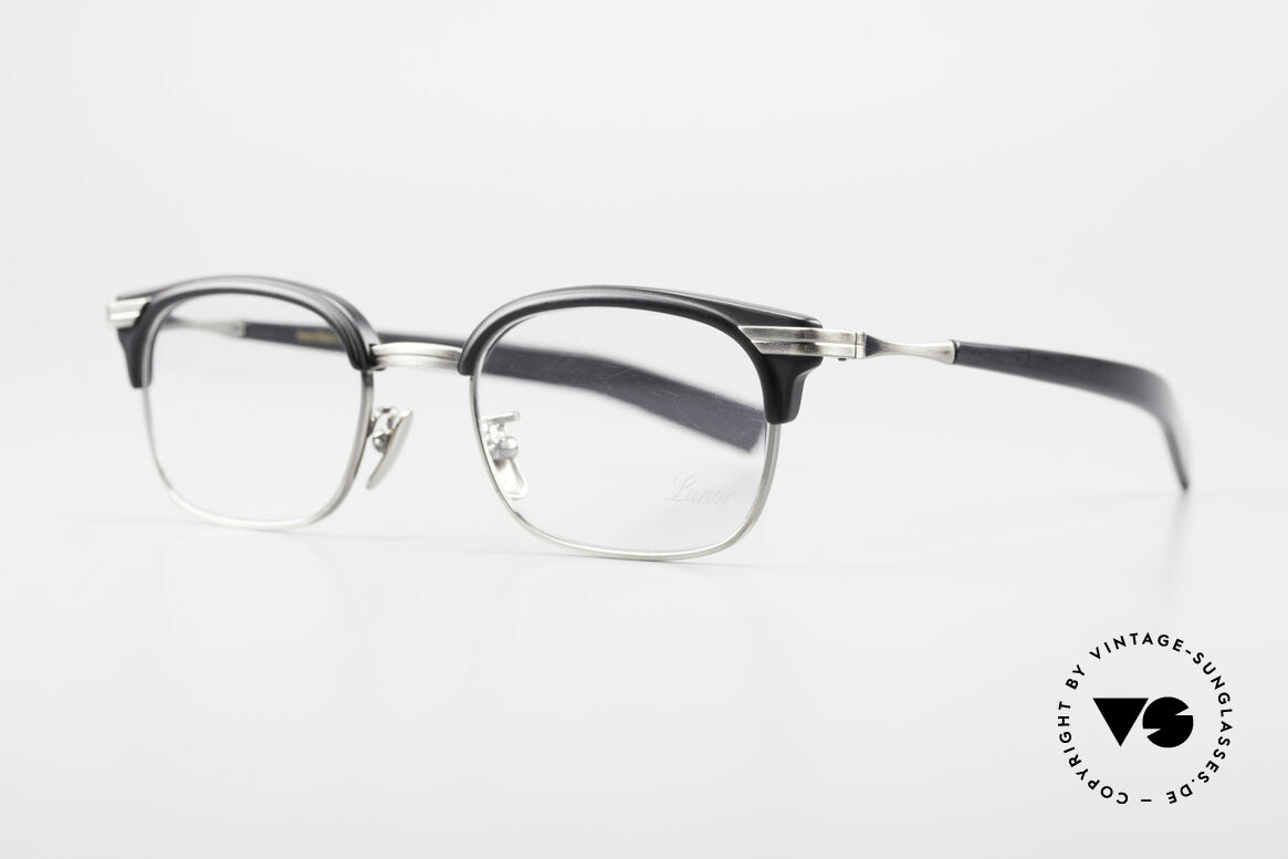 "Lunor M92 Striking Vintage Glasses Small, well-known for the ""W-bridge"" & the plain frame designs, Made for Men"