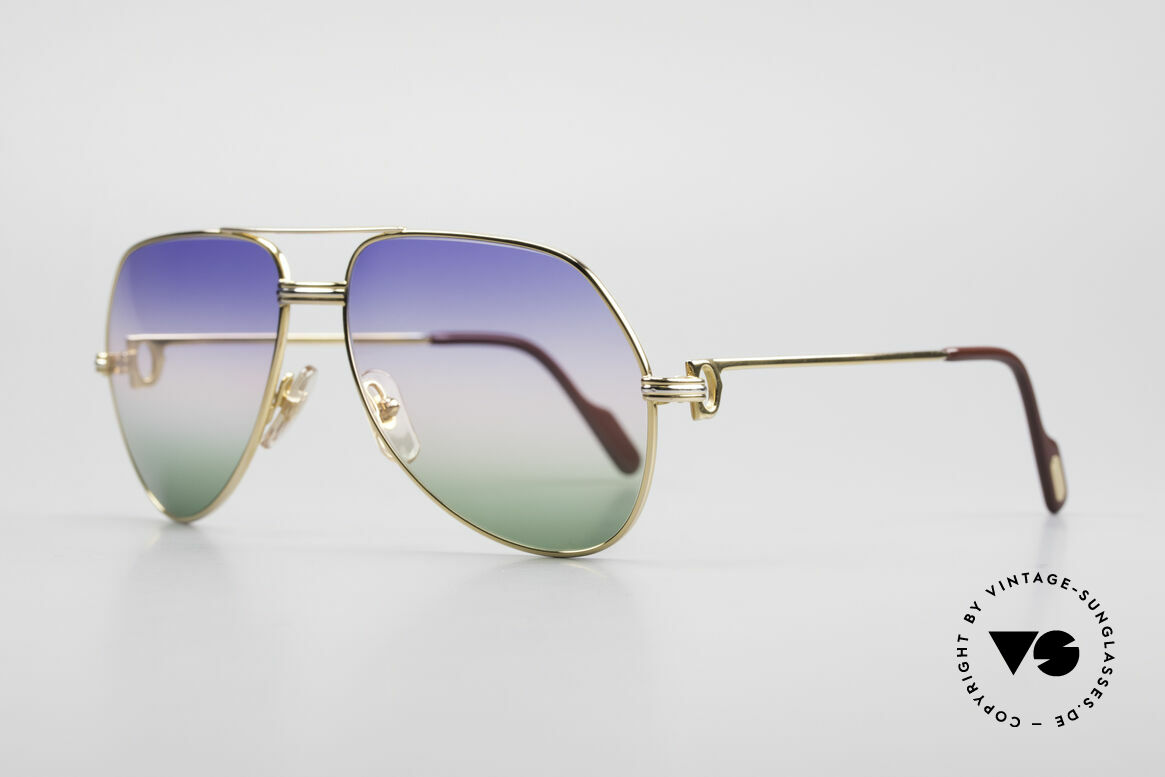 Cartier Vendome LC - M Michael Douglas Sunglasses, this pair (with L.Cartier decor): MEDIUM size 59-16,140, Made for Men