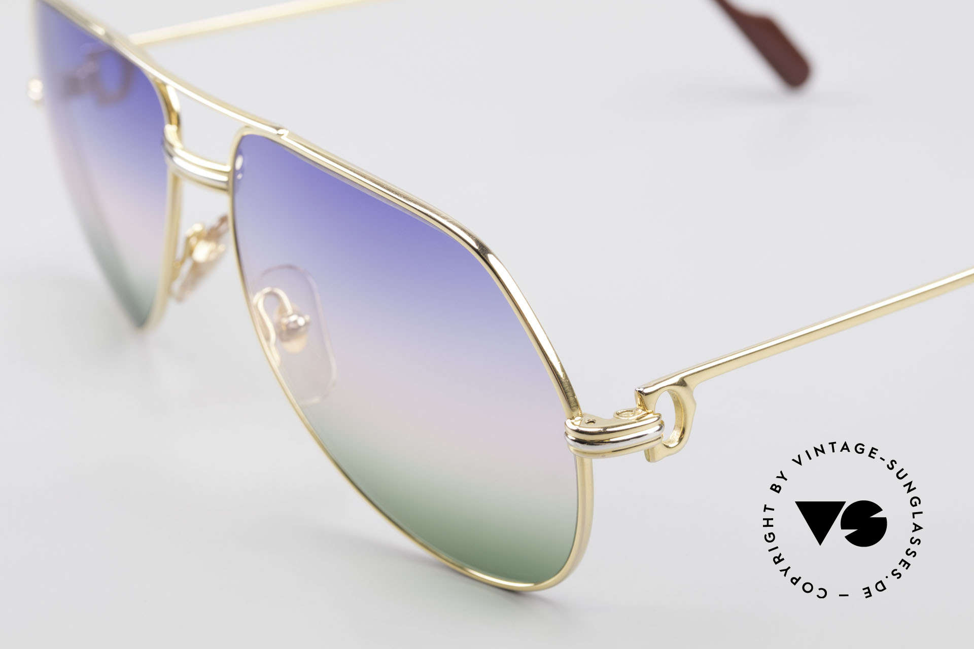 Cartier Vendome LC - M Michael Douglas Sunglasses, worn by actor Michael Douglas (movie 'Wall Street', '87), Made for Men
