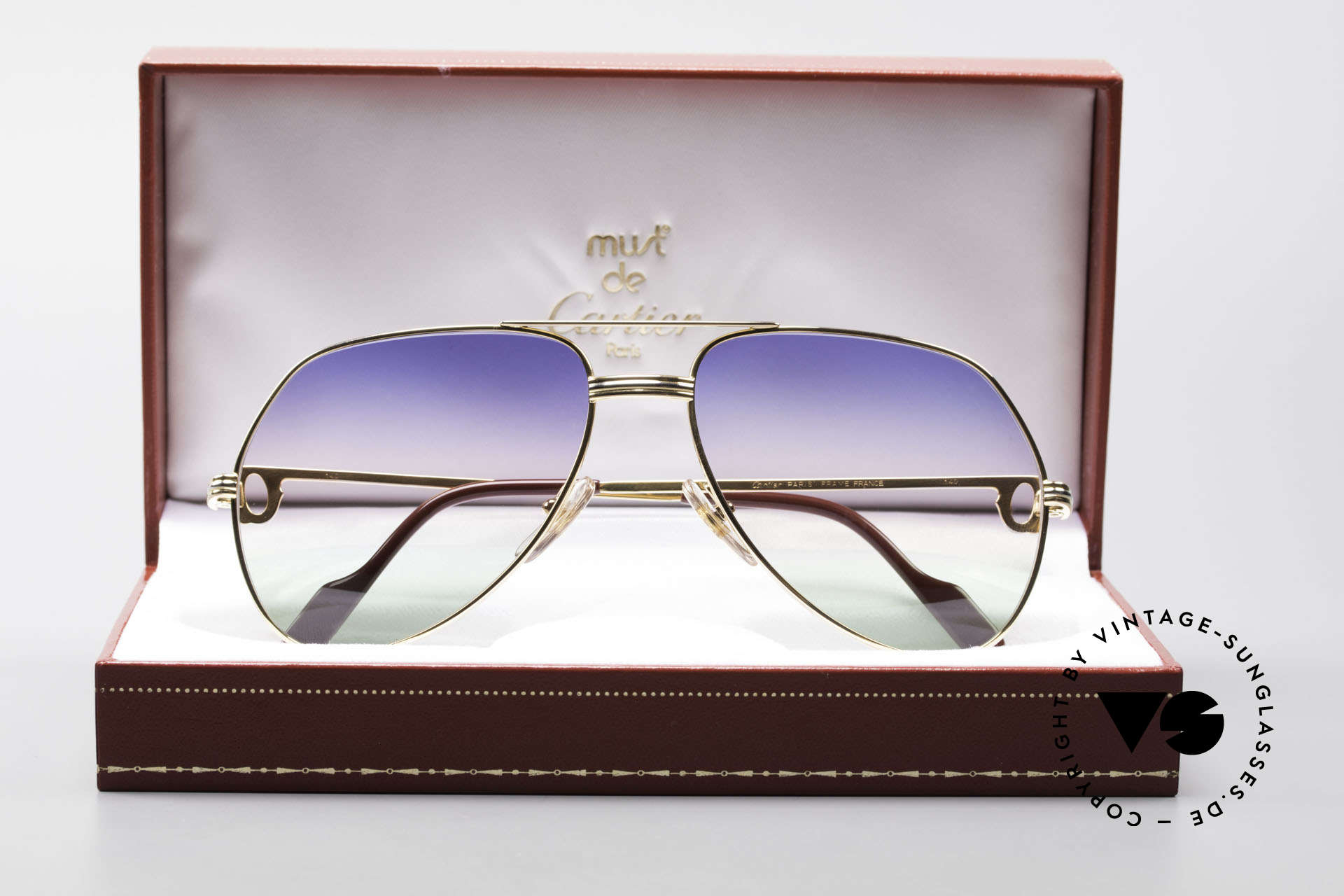 Cartier Vendome LC - M Michael Douglas Sunglasses, NO retro sunglasses, but an authentic vintage ORIGINAL, Made for Men