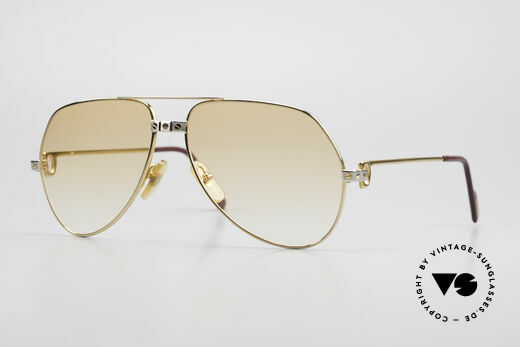 Cartier Vendome Santos - M Luxury 80's Aviator Shades Details