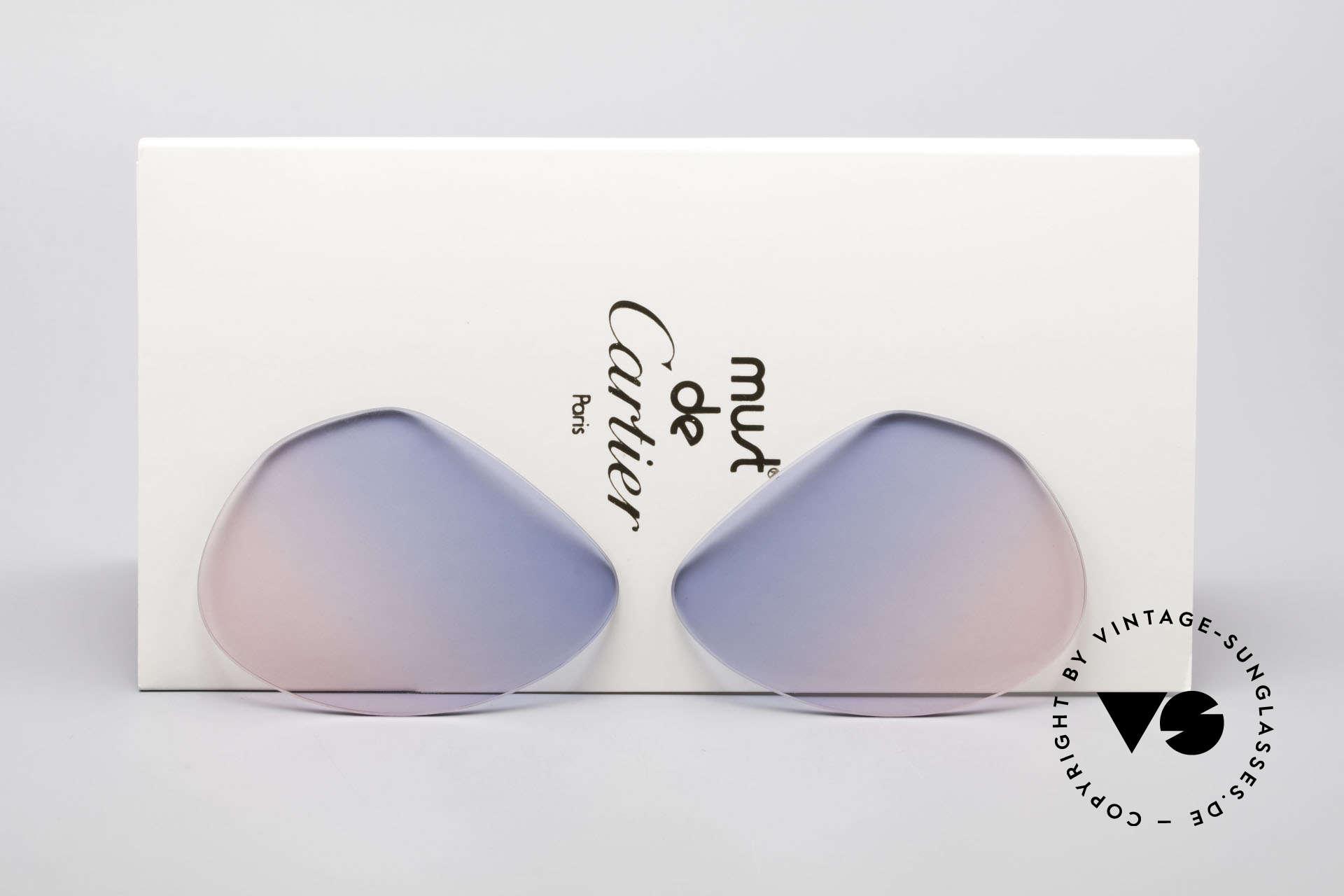 Cartier Vendome Lenses - M Sun Lenses Blue Pink Gradient, replacement lenses for Cartier mod. Vendome 59mm size, Made for Men