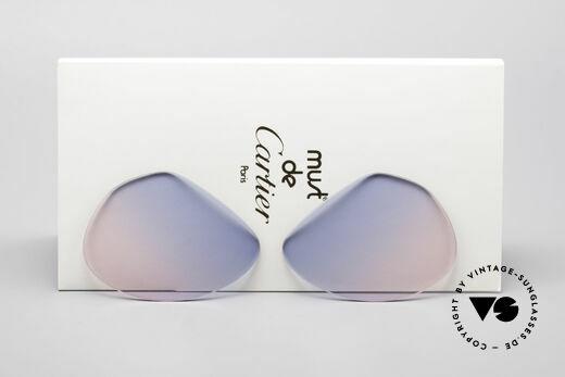 Cartier Vendome Lenses - M Sun Lenses Blue Pink Gradient Details