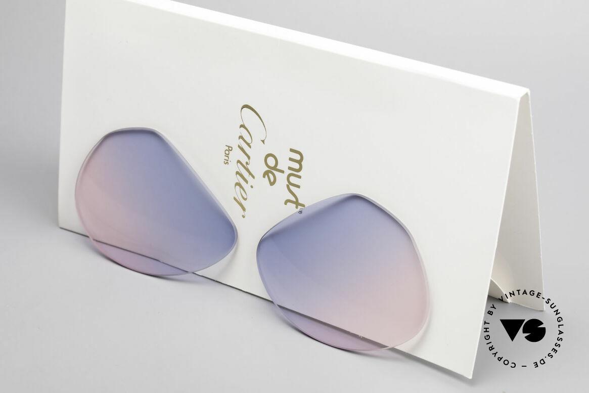 Cartier Vendome Lenses - M Sun Lenses Blue Pink Gradient, new CR39 UV400 plastic lenses (for 100% UV protection), Made for Men