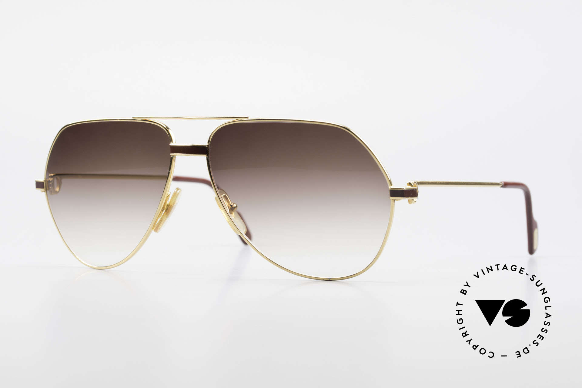 Cartier Vendome Laque - L Luxury Aviator Sunglasses, Vendome = the most famous eyewear design by CARTIER, Made for Men