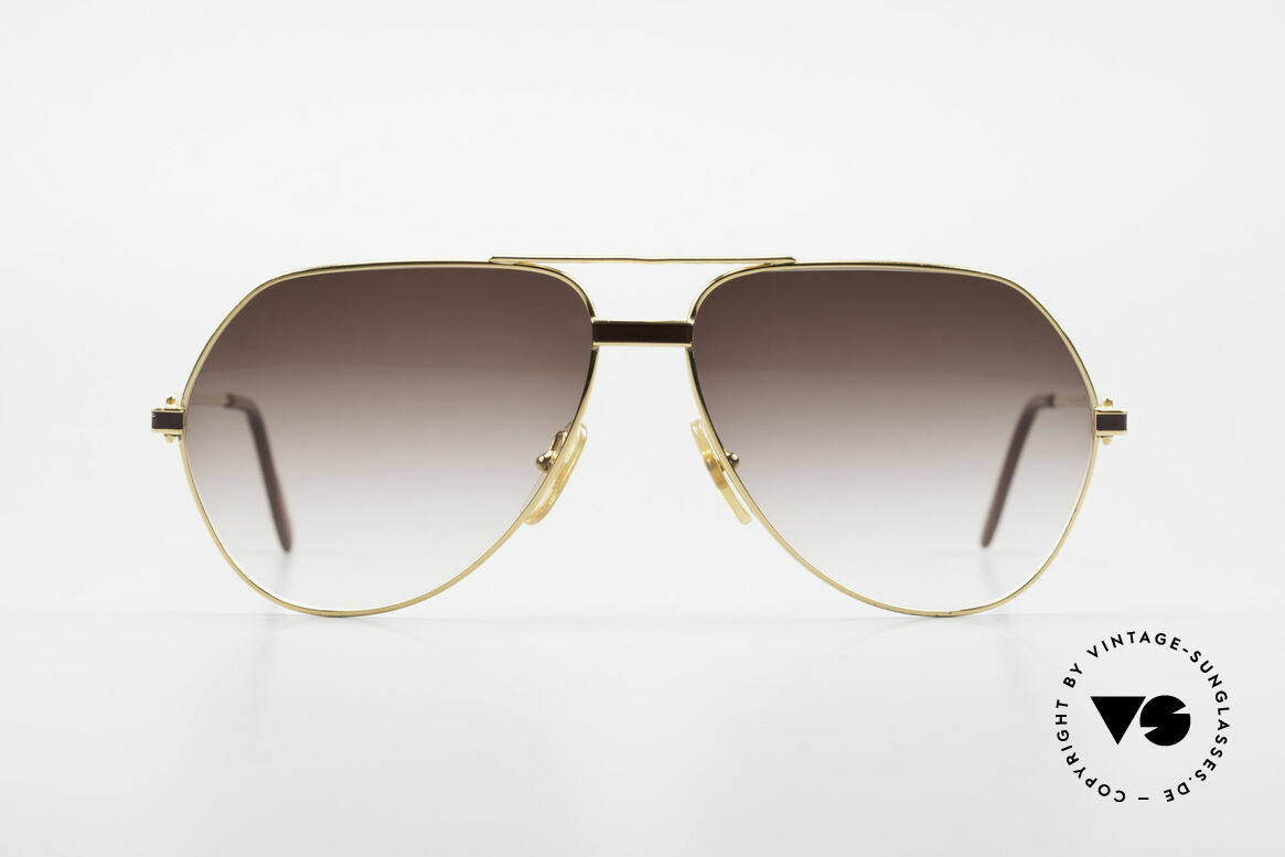 "Cartier Vendome Laque - L Luxury Aviator Sunglasses, mod. ""Vendome"" was launched in 1983 & made till 1997, Made for Men"