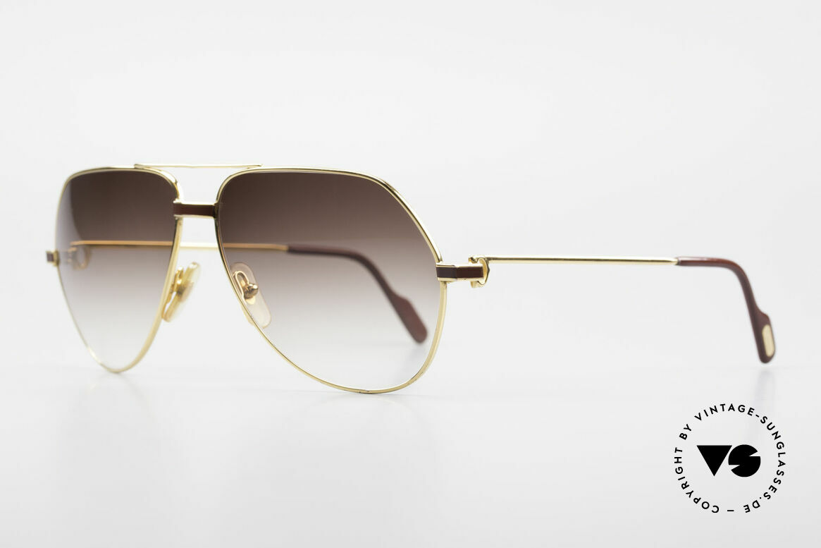 Cartier Vendome Laque - L Luxury Aviator Sunglasses, this pair (with LAQUE decor) in LARGE size 62-14, 140, Made for Men