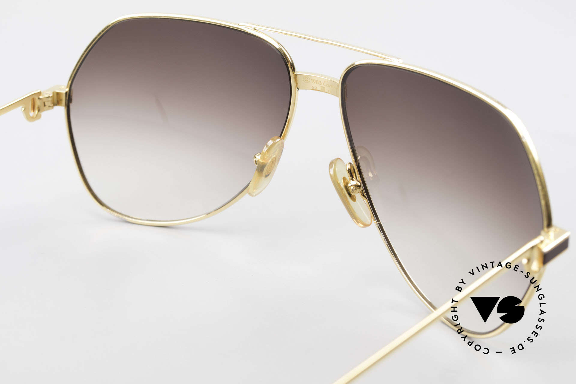 Cartier Vendome Laque - L Luxury Aviator Sunglasses, NO retro sunglasses, but an authentic vintage ORIGINAL, Made for Men