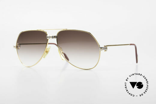 Cartier Vendome Santos - S Rare 80's Aviator Sunglasses Details