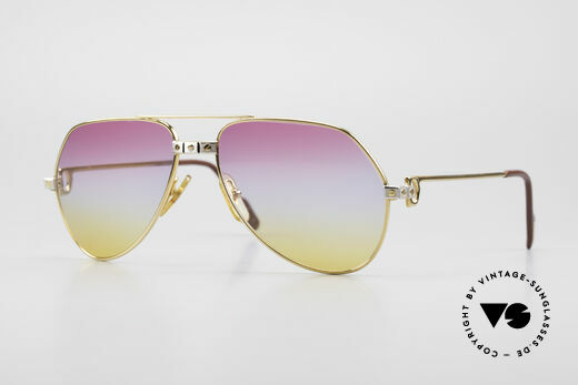 Cartier Vendome Santos - S Luxury Aviator Sunglasses 80's Details