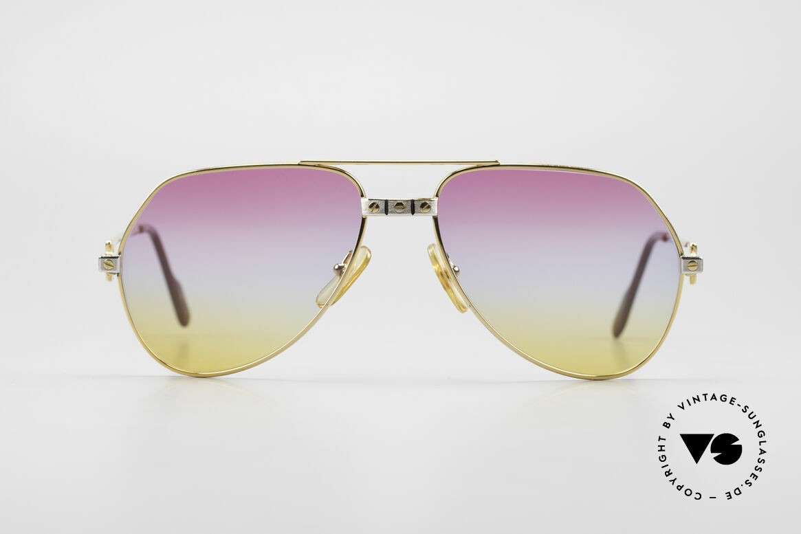 Cartier Vendome Santos - S Luxury Aviator Sunglasses 80's, Vendome = the most famous eyewear design by CARTIER, Made for Men and Women