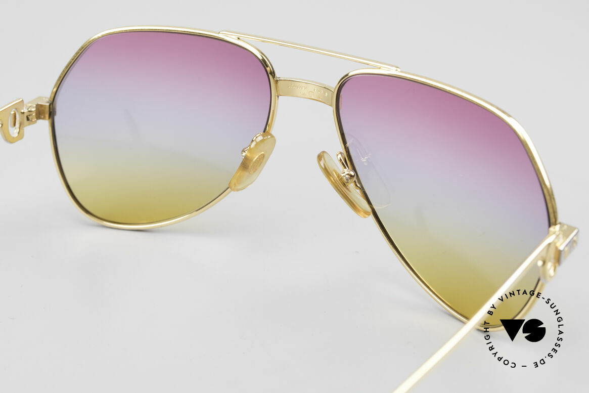 Cartier Vendome Santos - S Luxury Aviator Sunglasses 80's