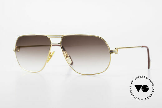 Cartier Tank - L Luxury Men's Sunglasses 80's Details