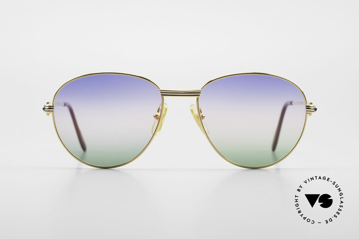 Cartier S Saphirs 0,94 ct Jewellery Sunglasses Panto, Panto Cartier designer shades Deluxe; LARGE 57°18, Made for Men and Women