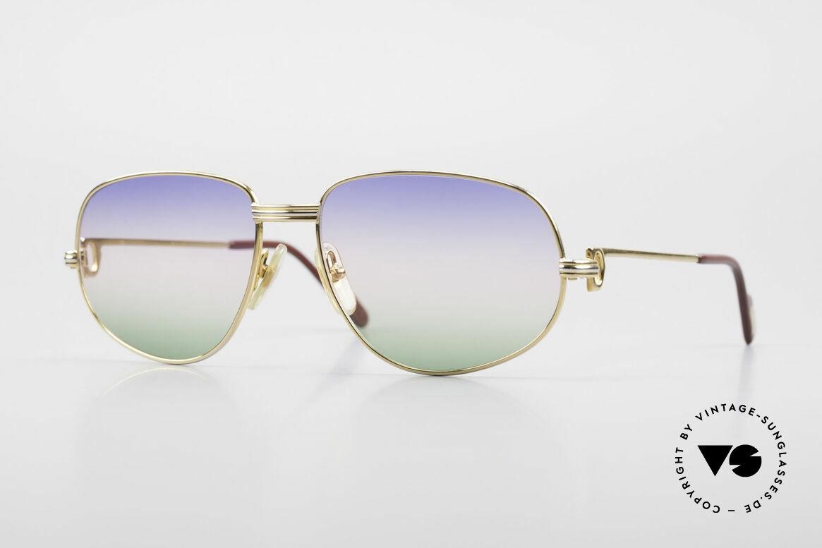 Cartier Romance LC - M Rare 80's Designer Sunglasses, vintage Cartier sunglasses; model ROMANCE Louis Cartier, Made for Men and Women