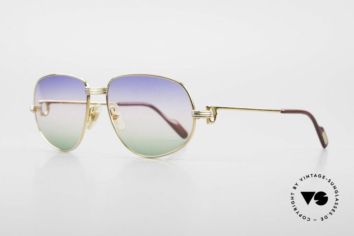 Cartier Romance LC - M Rare 80's Designer Sunglasses, this pair (with L. Cartier decor): MEDIUM size 56-18, 135, Made for Men and Women