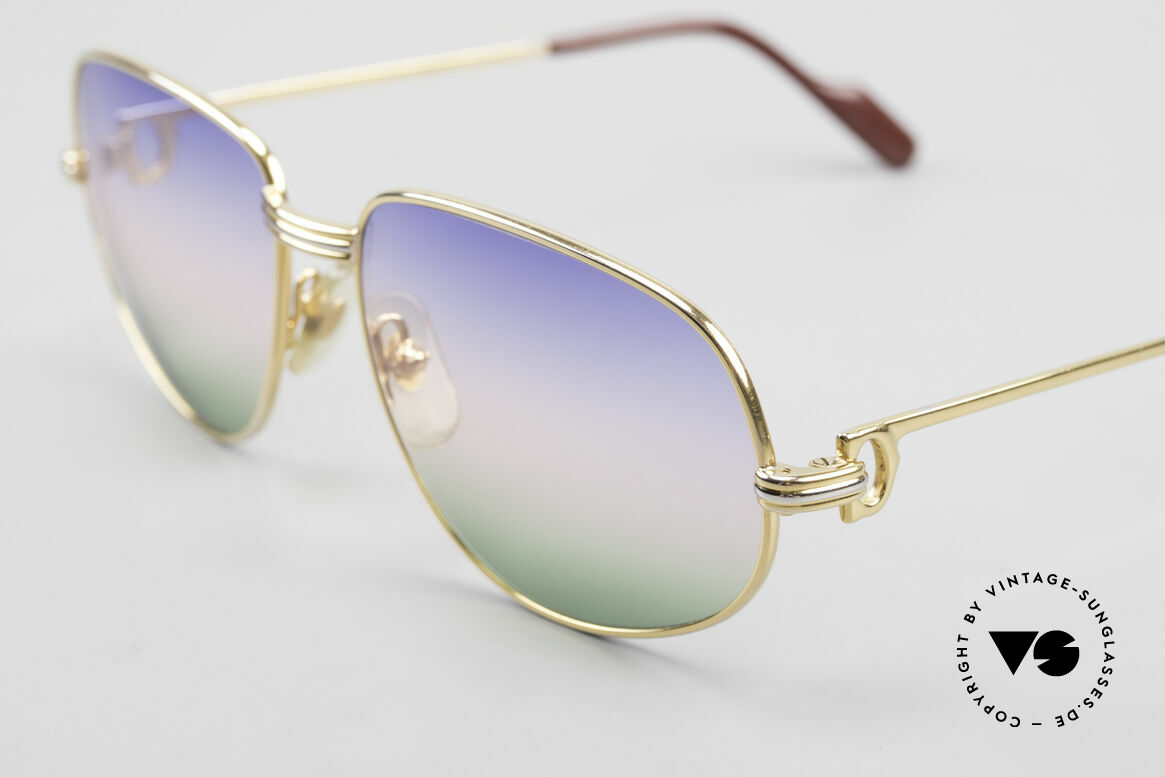 Cartier Romance LC - M Rare 80's Designer Sunglasses, 2. hand, but in great vintage condition (incl. GUCCI case, Made for Men and Women