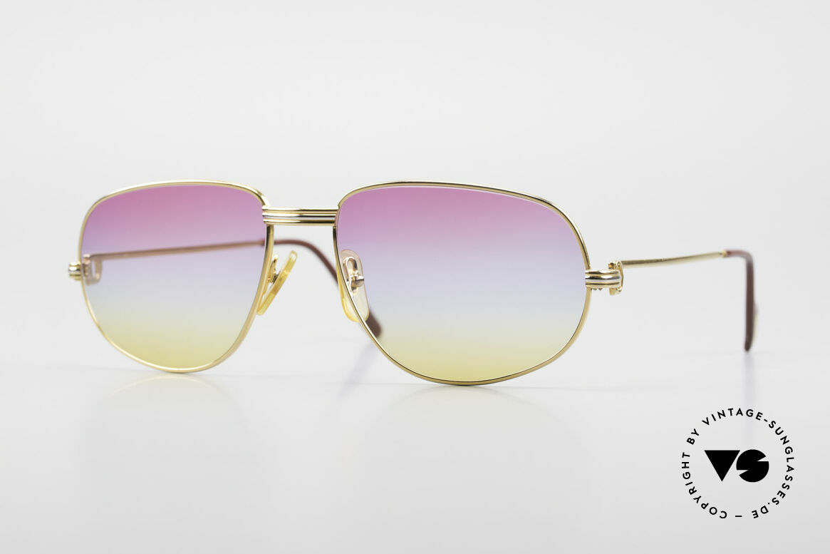 Cartier Romance LC - L Luxury Designer Sunglasses, vintage Cartier sunglasses; model ROMANCE Louis Cartier, Made for Men and Women