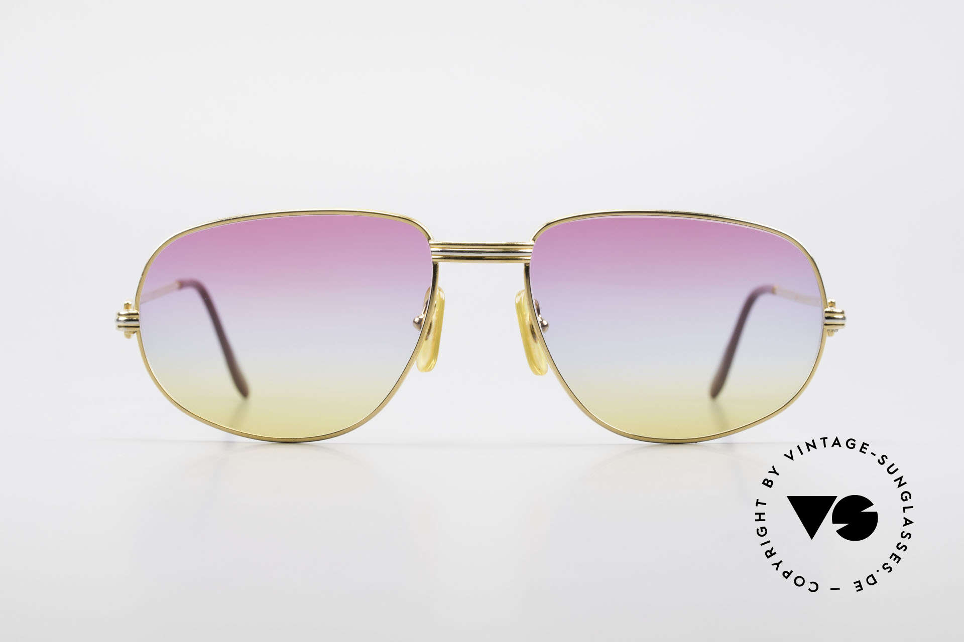 """Cartier Romance LC - L Luxury Sunglasses Gucci Case, mod. """"Romance"""" was launched in 1986 and made till 1997, Made for Men and Women"""