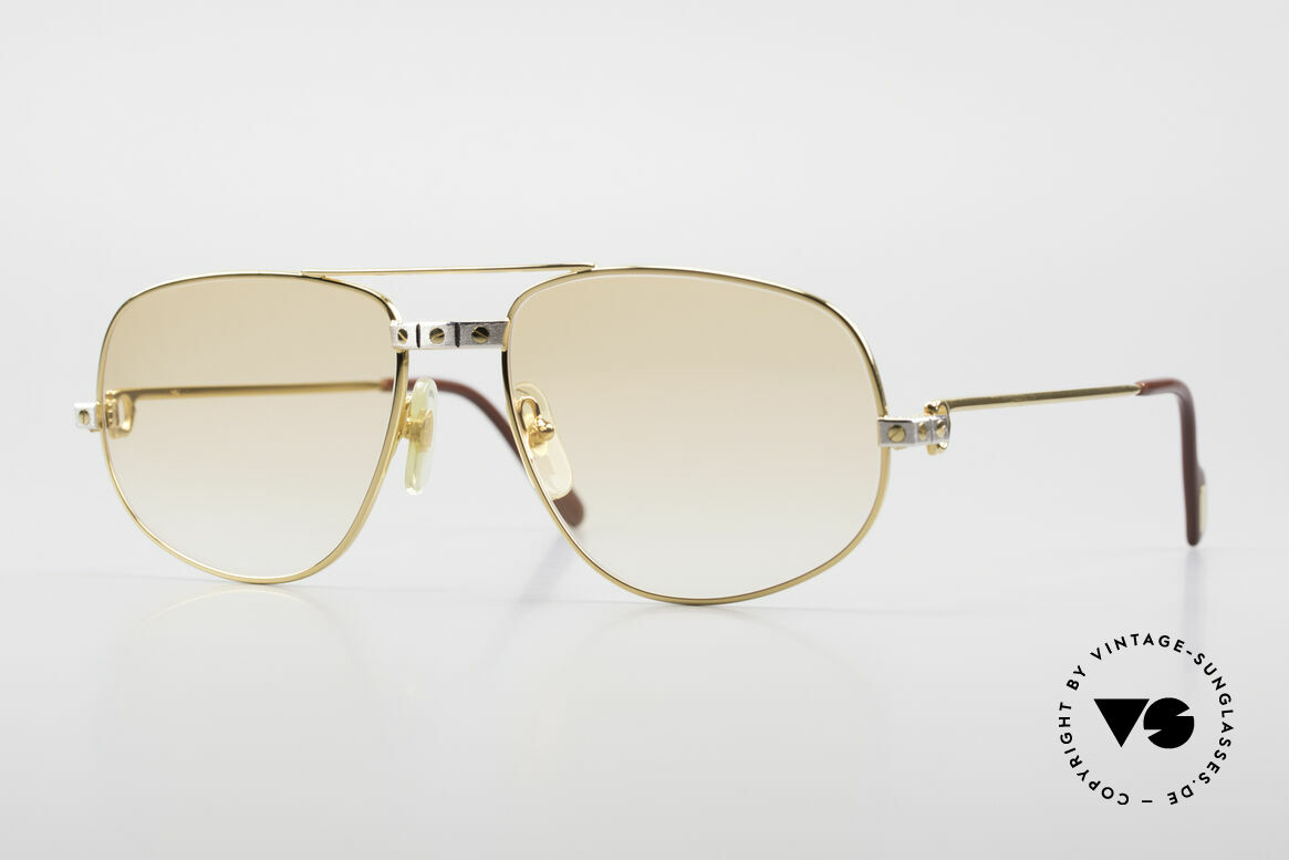 Cartier Romance Santos - L Luxury Vintage Sunglasses, vintage Cartier sunglasses; model ROMANCE Louis Cartier, Made for Men