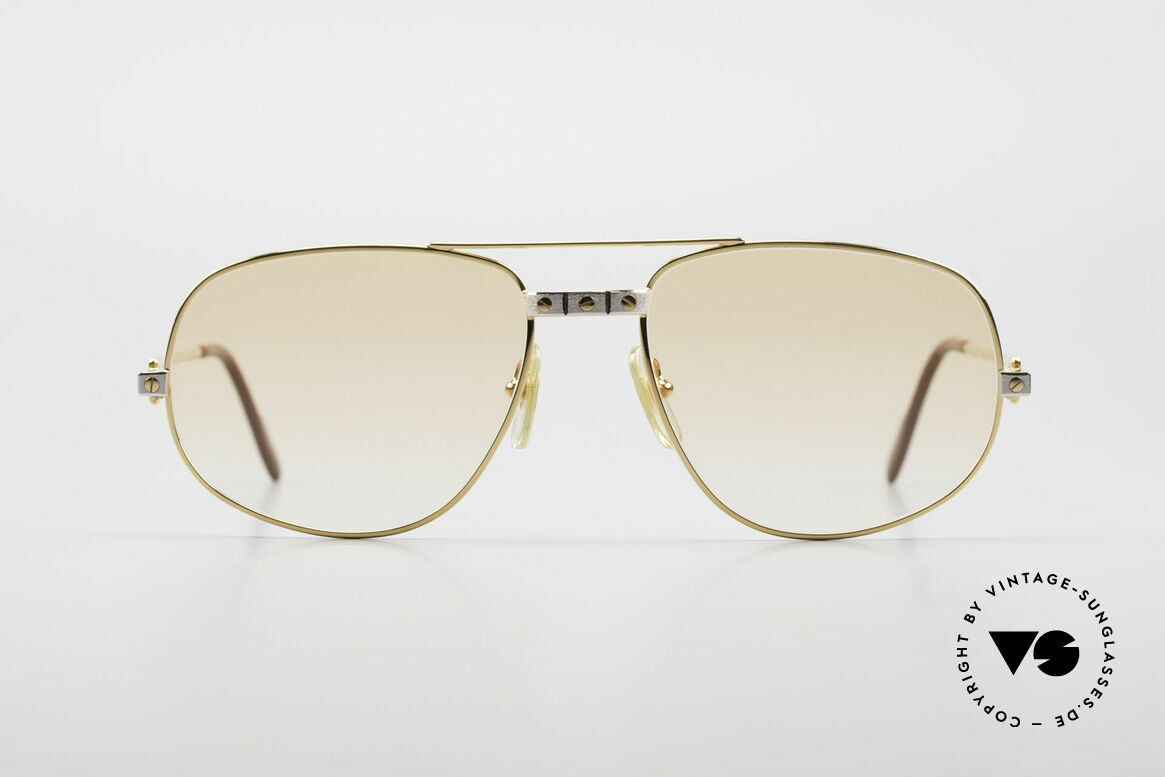 "Cartier Romance Santos - L Luxury Vintage Sunglasses, mod. ""Romance"" was launched in 1986 and made till 1997, Made for Men"