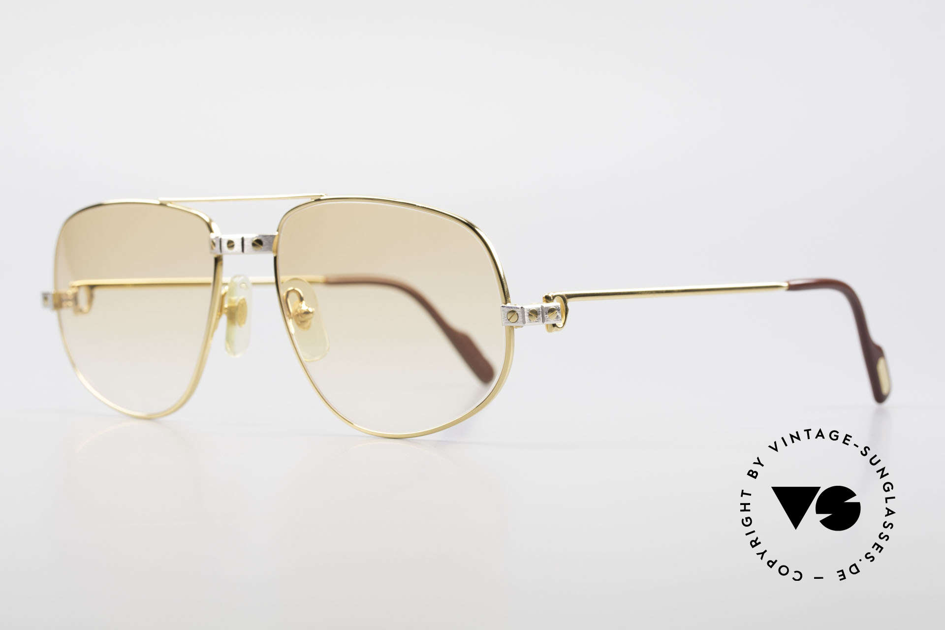 Cartier Romance Santos - L Luxury Vintage Sunglasses, this pair (with SANTOS decor) is LARGE size 58-18, 140, Made for Men