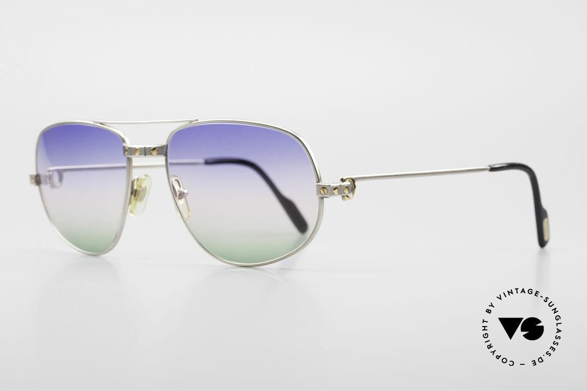 Cartier Romance Santos - L Palladium Shades Tricolored, RARE 'Palladium Edition': ligthweight & comfortable, Made for Men