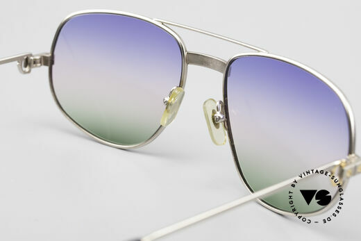 Cartier Romance Santos - L Palladium Shades Tricolored, NO RETRO sunglasses, but an authentic old ORIGINAL, Made for Men