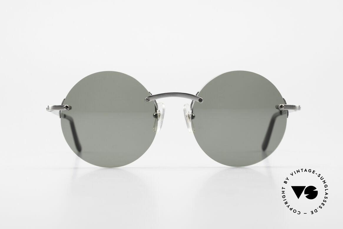 Cartier T-Eye Madison Round Luxury Sunglasses, precious round designer shades; TITANIUM frame!, Made for Men and Women