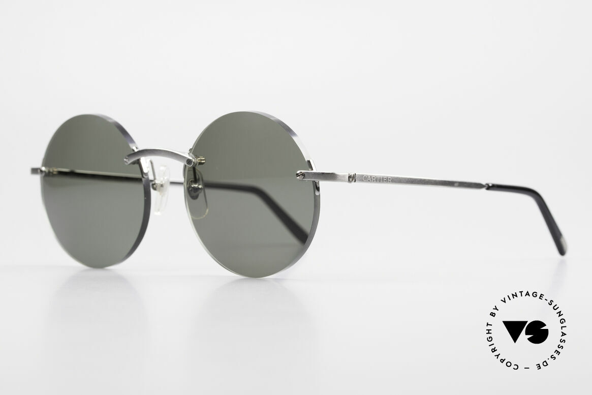 Cartier T-Eye Madison Round Luxury Sunglasses, model of the T-EYE series with new round sun lenses, Made for Men and Women