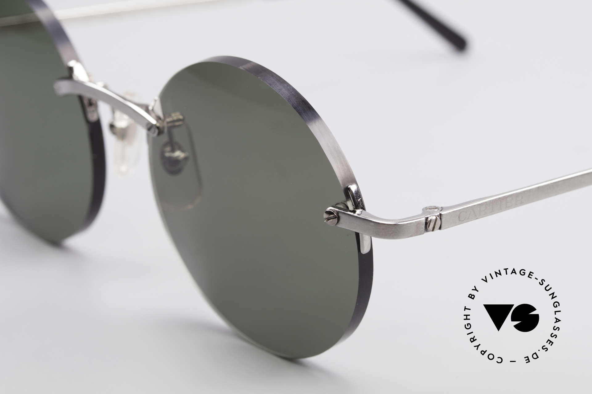 """Cartier T-Eye Madison Round Luxury Sunglasses, customized lenses are identical like model """"Madison"""", Made for Men and Women"""