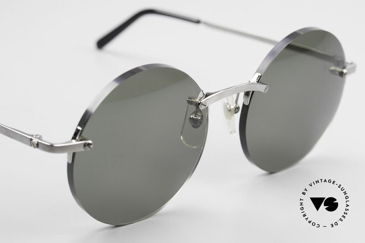 Cartier T-Eye Madison Round Luxury Sunglasses, 2. hand model, but in a mint condition + GUCCI case, Made for Men and Women