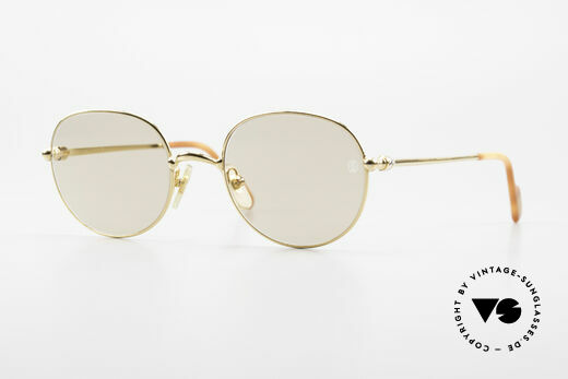 Cartier Antares Round 90's Luxury Sunglasses Details