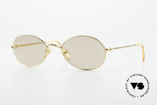 Cartier Saturne - L Oval 90's Luxury Sunglasses Details