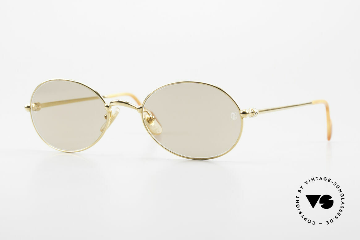 Cartier Saturne - L Oval 90's Luxury Sunglasses, RARE oval vintage CARTIER sunglasses; timeless frame, Made for Men and Women