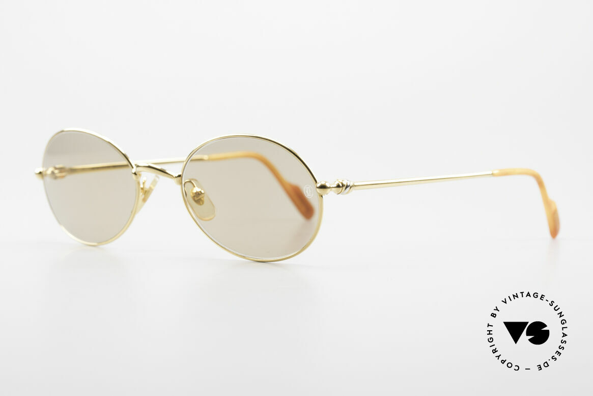 Cartier Saturne - L Oval 90's Luxury Sunglasses, Saturn: Ancient Roman god & planet in the Solar System, Made for Men and Women