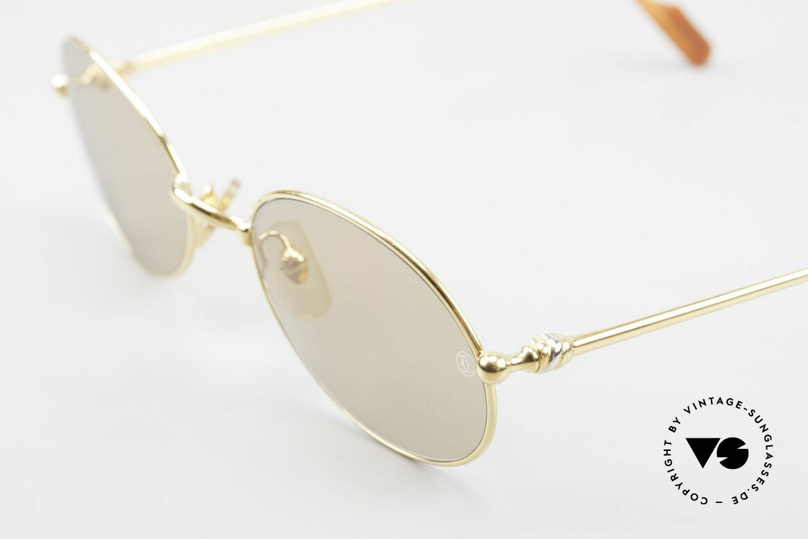 Cartier Saturne - L Oval 90's Luxury Sunglasses, high-end mineral lenses with engraved CARTIER LOGOS, Made for Men and Women