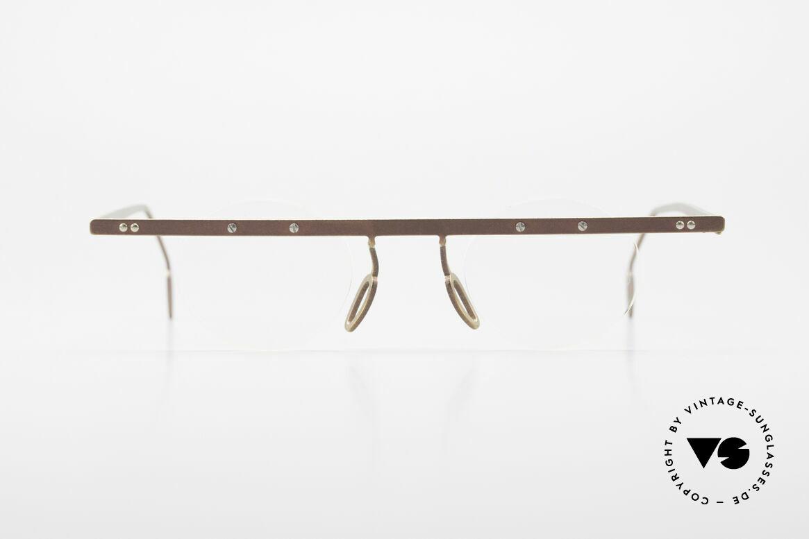 Theo Belgium Tita VII 9 Vintage Titanium Eyeglasses, founded in 1989 as 'anti mainstream' eyewear / glasses, Made for Men and Women